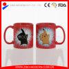 Tazza cambiante di colore di ceramica su ordinazione all'ingrosso/tazza magica in bianco per sublimazione