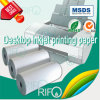 Revestimiento de superficie de un lado papel sintético de alta absorción de tinta