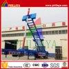 3 assen Aanhangwagen van de Stortplaats van de Container van de Capaciteit van de Nuttige lading van 60 Ton de Semi