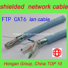 IL ftp CAT6 4 ha torto il cavo schermato accoppiamenti della rete di Ethernet di categoria 6 del cavo di lan di dati