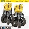 Orange hydraulique Peel Grab Scrap Grapple pour 20ton Excavator