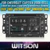 Reprodutor de DVD do carro de WITSON para Chevrolet Captiva com sustentação do Internet DVR da ROM WiFi 3G do chipset 1080P 8g