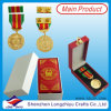 I UAE Doubai Police e Military Medal con Leather Box, Pin Badge di Gold Army Medal Box Ribbon con il Pin di Butterfly (lzy-201300296)