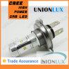lâmpada H4 da névoa do diodo emissor de luz do carro do CREE de 6000k 30W