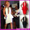 Toda a chegada nova de White/Red/Black 2014 fêz malha vestidos Backless sexy da celebridade do vestido da atadura dos plissados sexy luxuosos da cabeçada