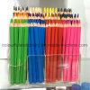 La matita colorata enorme di legno ha impostato in casella di stampa di colore completo