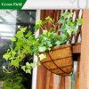Potenciômetro de flor do plantador da cesta da parede do jardim do metal da decoração