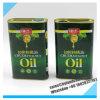 500ml svuotano il barattolo di latta d'acciaio del metallo per l'imballaggio dell'olio di oliva