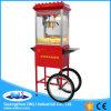 Vendita calda popcorn commerciale elettrico antiquato automatico del creatore di Popporn della caramella della caldaia dalle 8 once che fa macchina con il prezzo del carrello