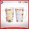 Al por mayor de la forma de V colorida adaptable taza de cerámica