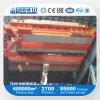 Grúa de arriba de la viga doble de 50 toneladas para el taller de la fundición