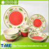 16PC Stoneware Square Hand Painted Dinner Set (613045)