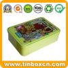 Verpacken- der Lebensmittelkasten-rechteckige Blechdose für Metallsüßigkeit-Kasten