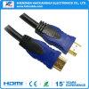 高速HDMIの男性男性ケーブル1.4Vのナイロンネット1080P/3D/4k