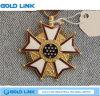 La médaille faite sur commande de bâti d'émail de médailles en métal ouvre la pièce de monnaie de souvenir de cadeau