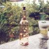 La cadena de hadas de la botella de la luz de las estrellas de la música de la estrella multi enciende el dormitorio de interior coloreado 5 LED de Navidad