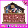Il calendario di scrittorio di legno del bambino all'ingrosso 2016, fumetto scherza il calendario di scrittorio di legno, il calendario di scrittorio di legno dei bambini divertenti W02A177