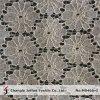 Tissu de robe de lacet de guipure de fleur (M0465-G)