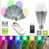 Lámpara teledirigida de iluminación elegante opcional del poder más elevado de WiFi 9W RGBW LED de la base de la lámpara del poder más elevado LED E27 E26 B22