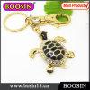 Trousseau de clés en métal de tortue d'or de cadeau de promotion de mode