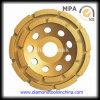 Двойной абразивный диск диаманта рядка для камня