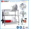 Crémaillère de séchage brevetée de chrome en métal d'assiette réglable de cuisine, crémaillère de plaque