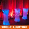 RGB LED 커피용 탁자 또는 플라스틱 커피용 탁자 /Round 커피용 탁자