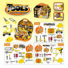 Juguete de plástico para niños Playhouse para Junior Builder Tool Set