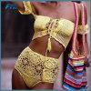 weg von der Schulter strickten Frauen Bikini-heiße hohe Taillen-Häkelarbeit-Badebekleidung