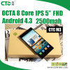 5  pulgadas 1080P IPS Mi3 M3 Android 4.3 Phone