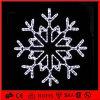 Luz decorativa del copo de nieve del adorno del blanco LED del día de fiesta al aire libre