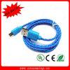 Cable de nylon trenzado de la sinc. de los datos del USB del micr3ofono de la tela durable