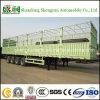 4-Axle Fence Cargo Semi Trailer para Carrier Livestock