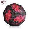 [رست] [أيل بينتينغ] فن إمرأة مظلة يطوي إشارة نوعية [9ريبس] صامد للريح مظلة مطر نساء [وتر دروبلت] شمسيّة [برغس]