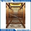 Elevador con elevador de pasajeros residencial en la construcción de oficina