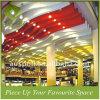 Aluminium passte Wellen-Leitblech-Decke für Einkaufszentrum an