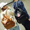 Popular negro cuero pu mujer Lady mochila