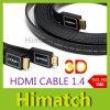 Câble HDMI plat 1,4 V 1080p 3D pour la TVHD & tablettes le câble d'ordinateur