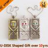 USB caliente Pendrive (YT-6210) del metal del regalo del diamante de la pista del cráneo
