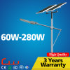 Iluminação solar de alumínio do diodo emissor de luz da rua da lâmpada da lâmpada 60W 8m