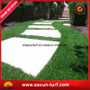 Erba cervina artificiale del tappeto erboso del giardino sintetico del prato inglese