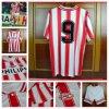 Uniforme de encargo del fútbol de Jersey del fútbol de la tela del kit del balompié del juego del deporte de la calidad tailandesa superior
