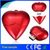 Forme de coeur rouge lecteur Flash USB en plastique pour un cadeau USB
