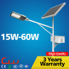 indicatore luminoso di via solare di 80000hrs 130lm/W 30W 60W LED con Palo
