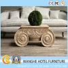 Tavolino da salotto rotondo creativo di disegno di legno solido per l'ingresso dell'hotel