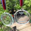 Medallas de vidrio personalizada con la cinta, medallas del deporte y Trophys con Logo mayor personalizados