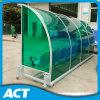 Banco móvel dos esportes ao ar livre com abrigo transparente para o futebol, hóquei, campo do grilo