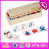 2015 Wooden educativo Domino Toy per Kids, Creative Domino Game Toy per Children, Best Seller Wooden Domino Toy Play Set W15A055