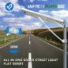 напольной солнечной интегрированный приведенный в действие улицей светильник жары 30W