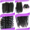 Acconciature pure di Malaysian Weave Extension Human Hair Jerry Curl per le donne di colore